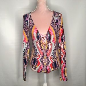 Free people colourful bodysuit.